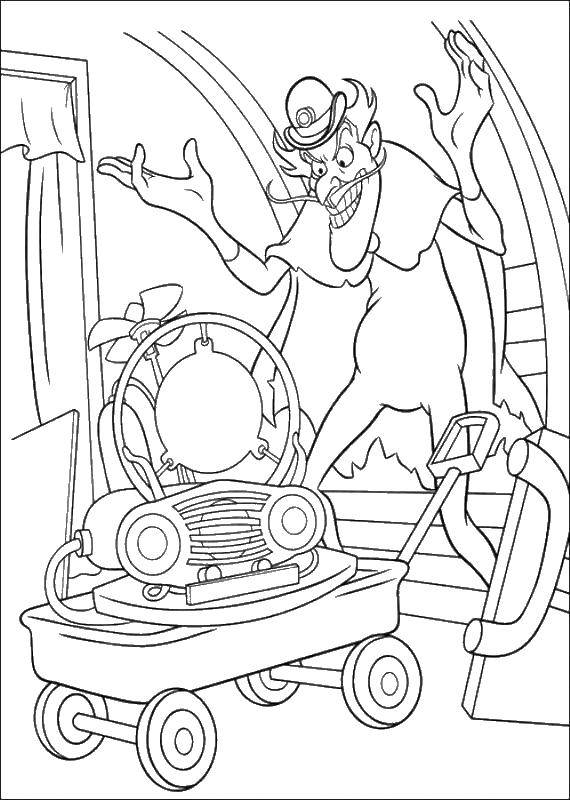 Coloring sheet meet the Robinsons Download island, vacation, sun, palm trees.  Print ,the rest,