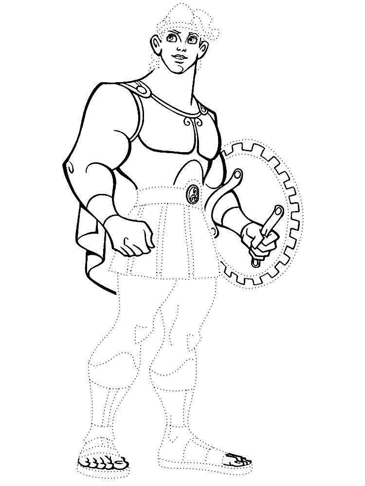 Coloring sheet Hercules Download Freck got married.  Print ,Cartoon character,