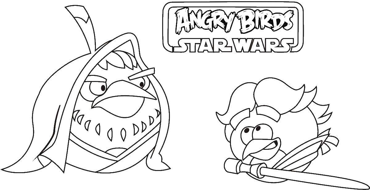 Coloring Angry birds star wars Download Games, Angry Birds .  Print ,angry birds,