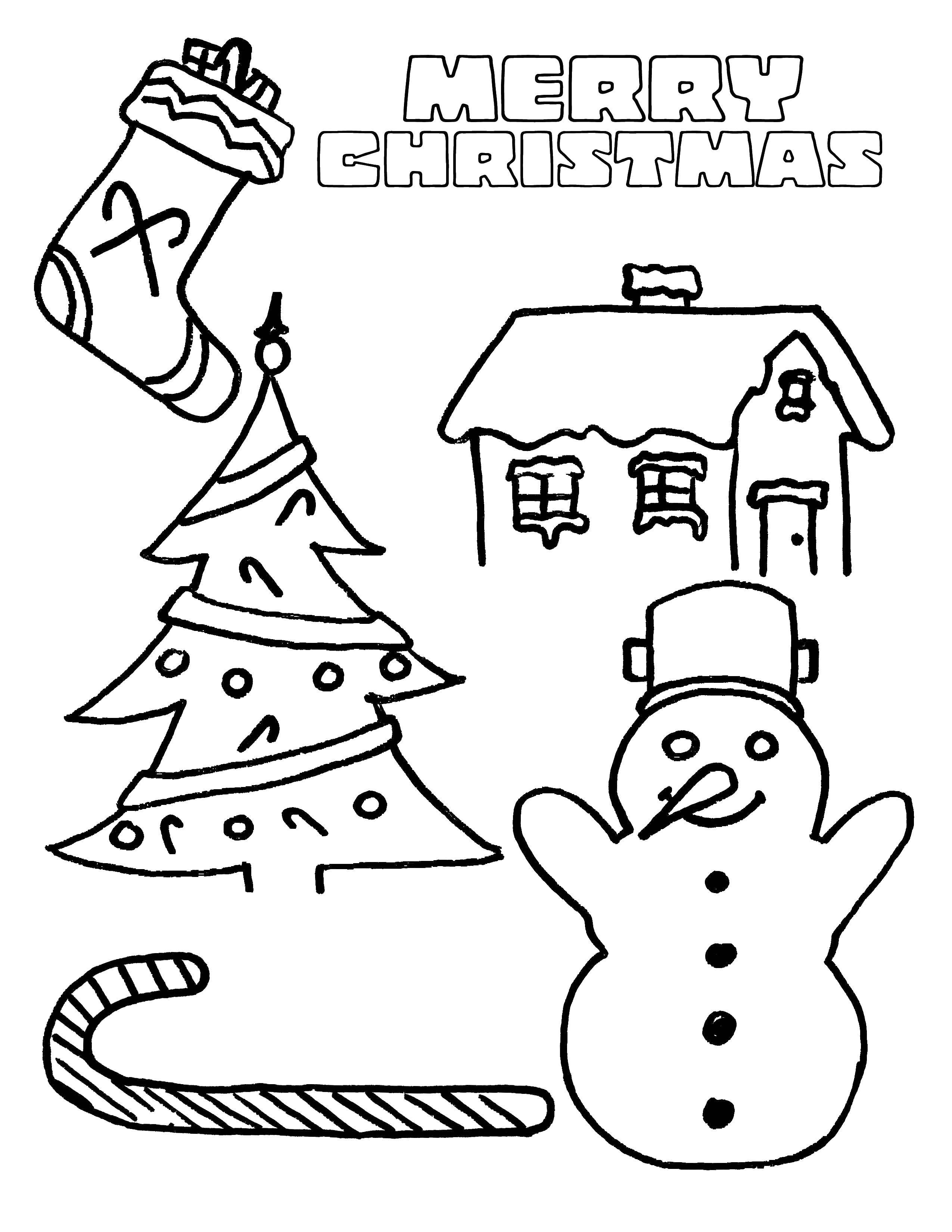 Coloring sheet Christmas Download .  Print