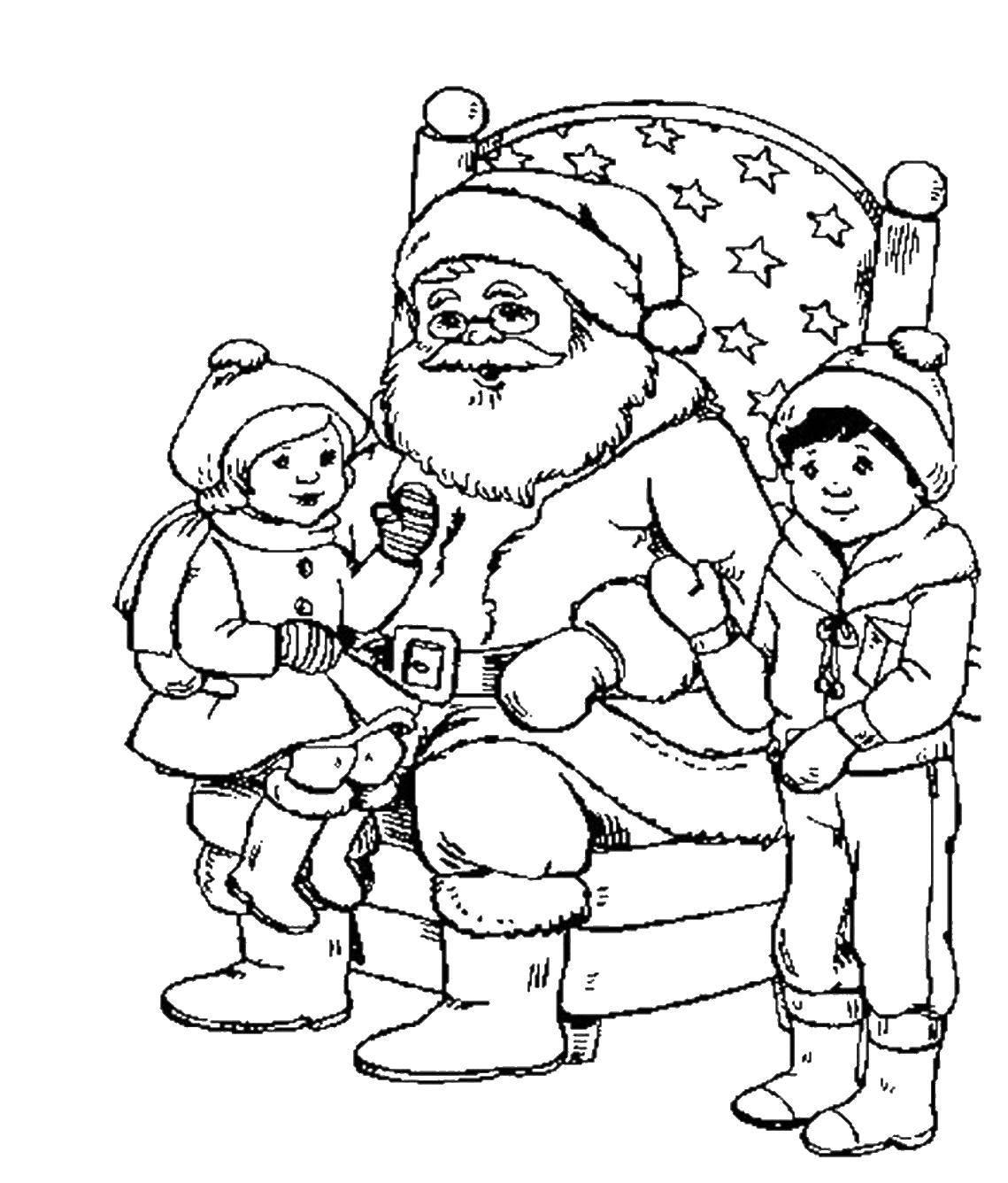 Раскраски елка, Раскраска Праздничная елка с подарками ...