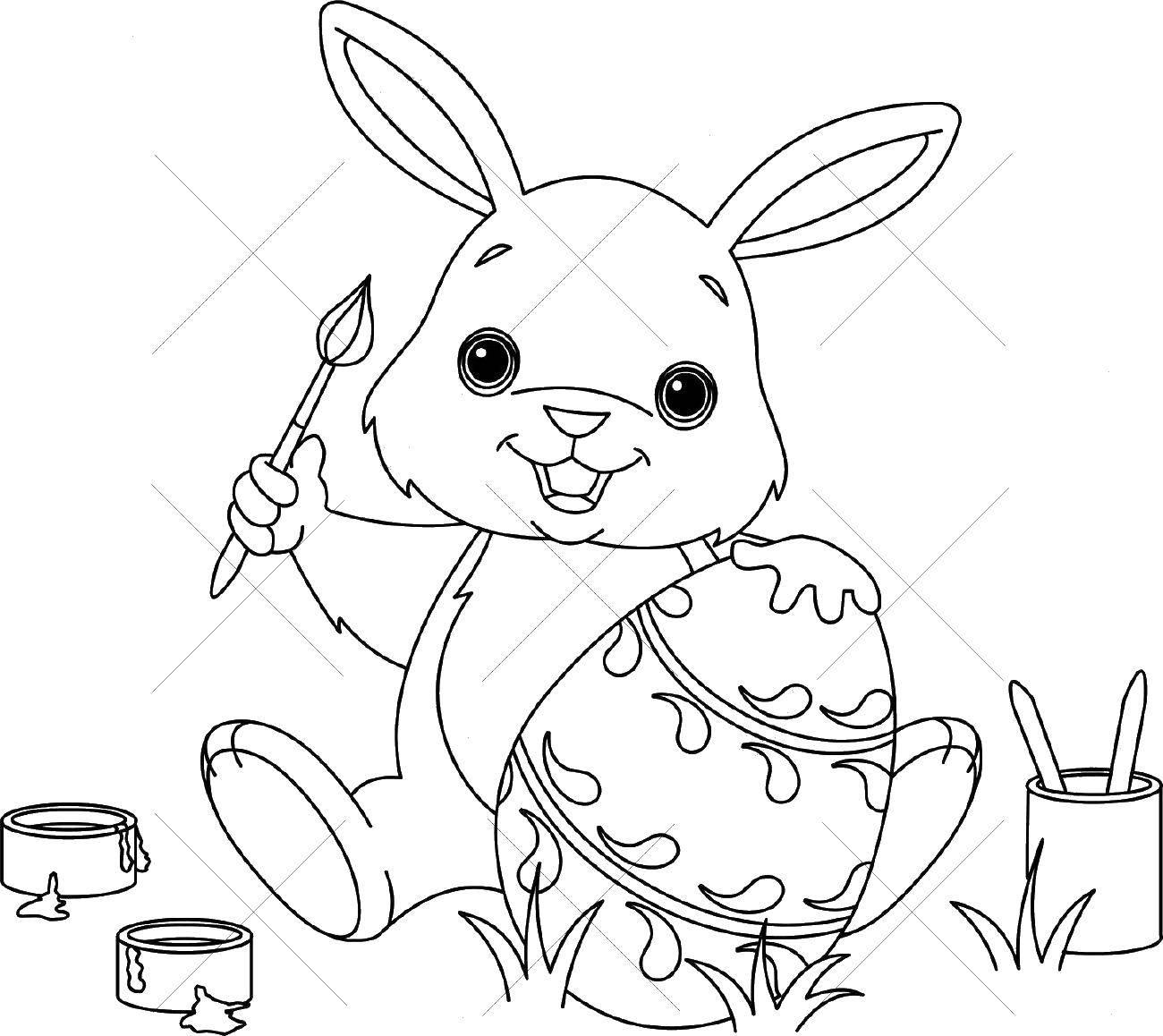 Раскраска раскраски пасха Скачать ,кролик, заяц, пасха,.  Распечатать
