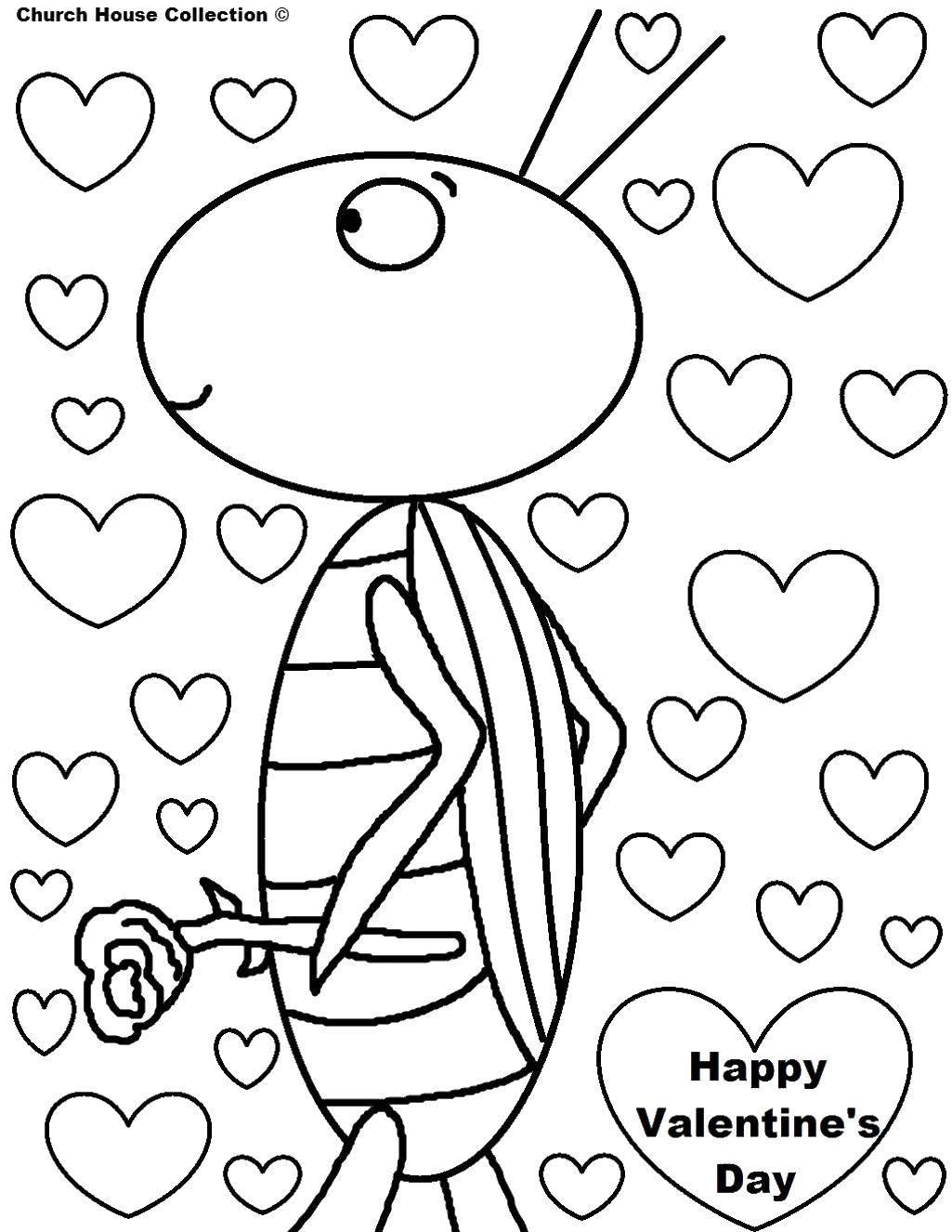 Coloring sheet St Valentins day Download ,cartoons, children,.  Print