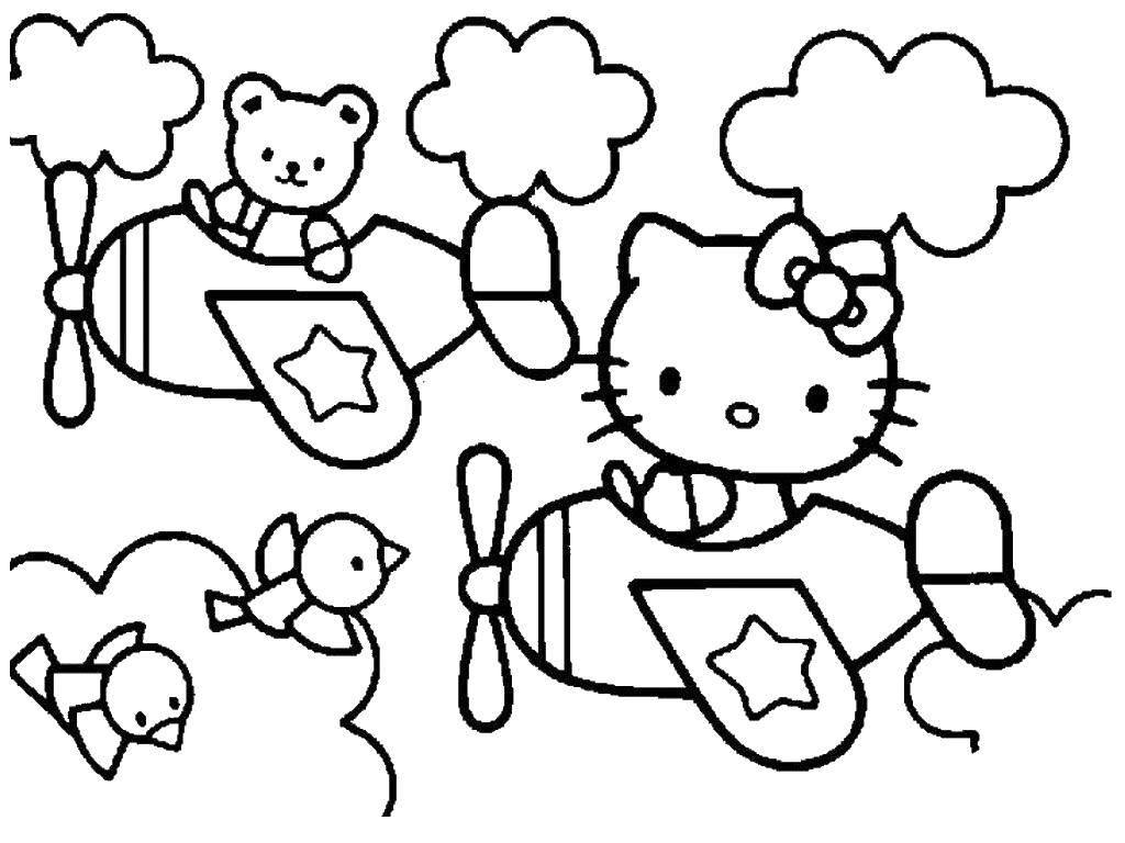 Coloring sheet Hello Kitty Download Swan lake, Barbie, Princess.  Print ,Barbie ,
