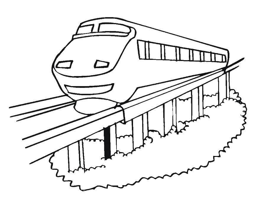 Раскраски поезда, Раскраска Два поезда поезд.