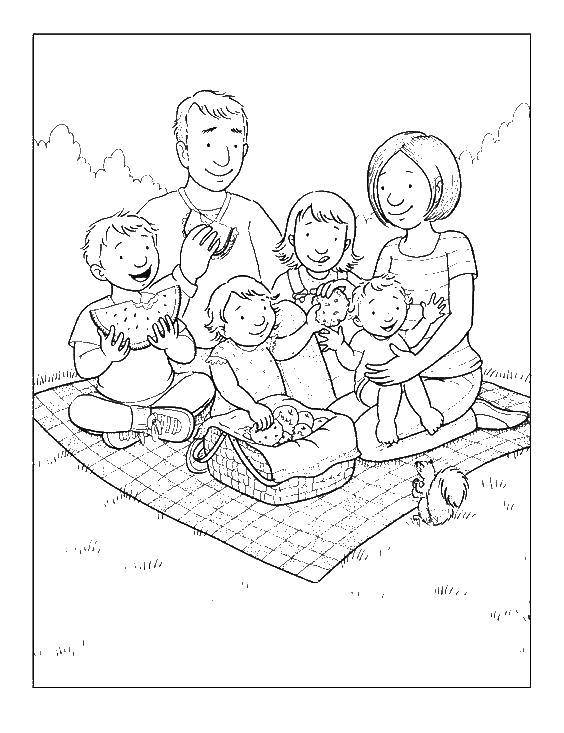 Coloring sheet Family Download .  Print