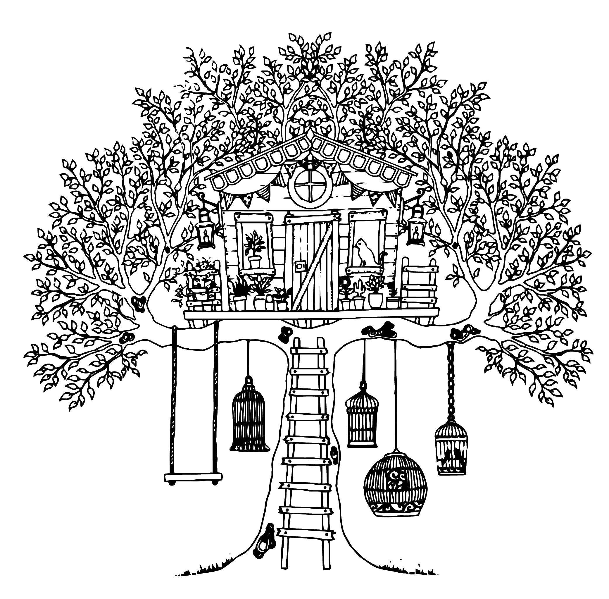 магазин раскраска домик на дереве распечатать продолжении темы великая