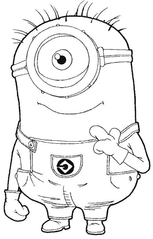 Coloring sheet minions Download .  Print