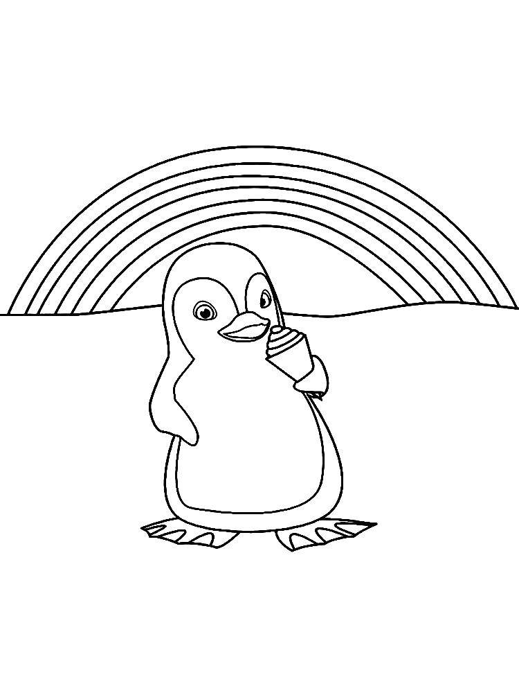 раскраска пингвинов распечатать некоторых