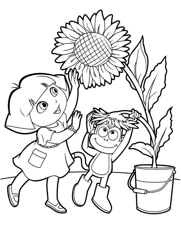 Coloring sheet Cartoon character Download .  Print