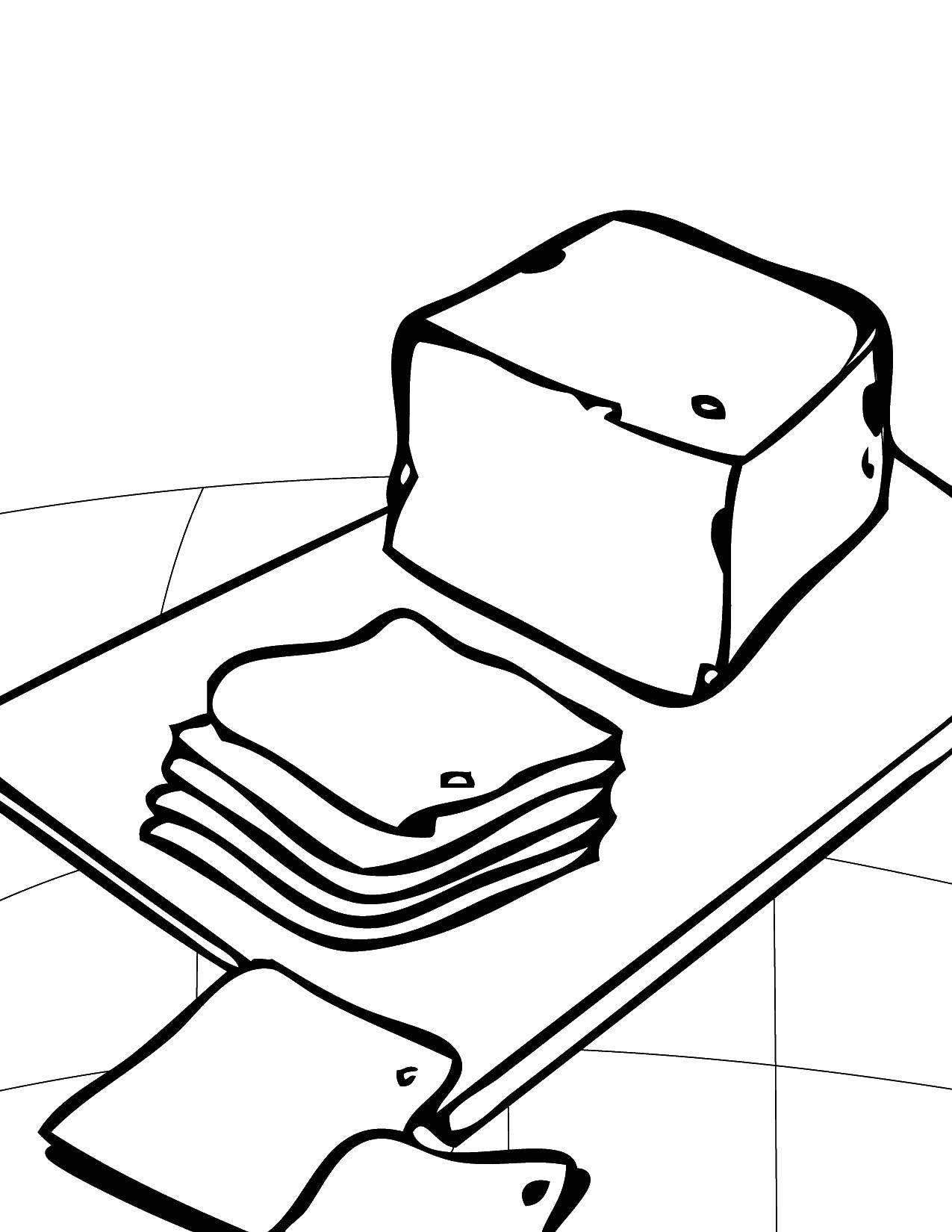 Coloring sheet Cheese Download .  Print