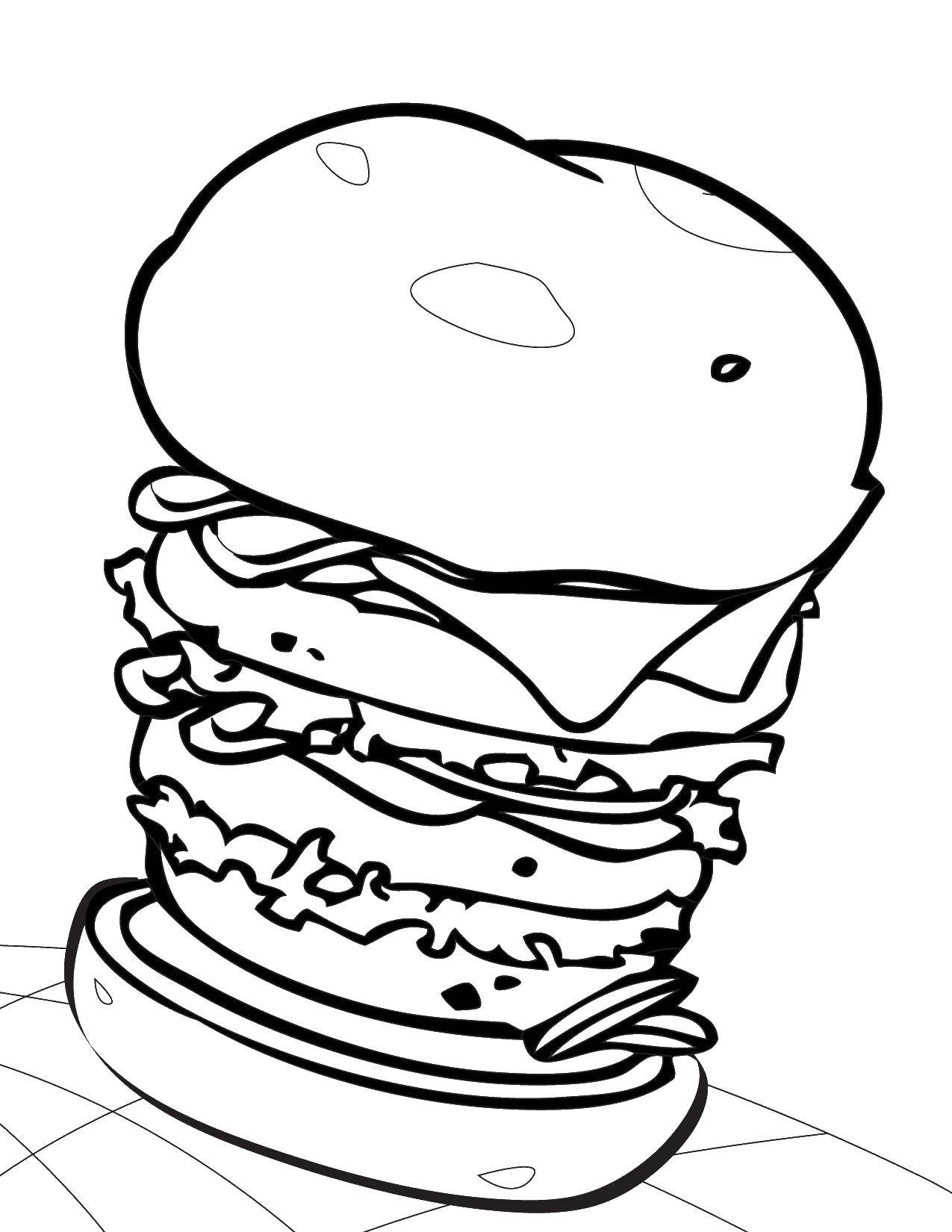 картинки гамбургера раскраска орнаментал эскизы фото