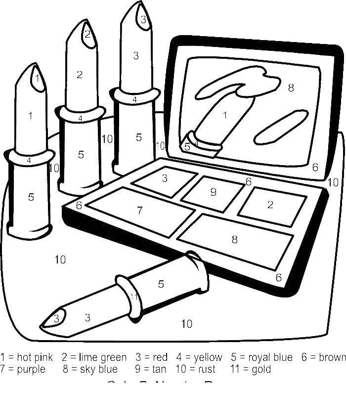 Coloring pages cosmetics Скачать .  Распечатать