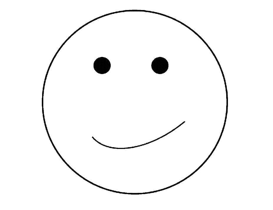 Смайлики раскраска распечатать улыбка