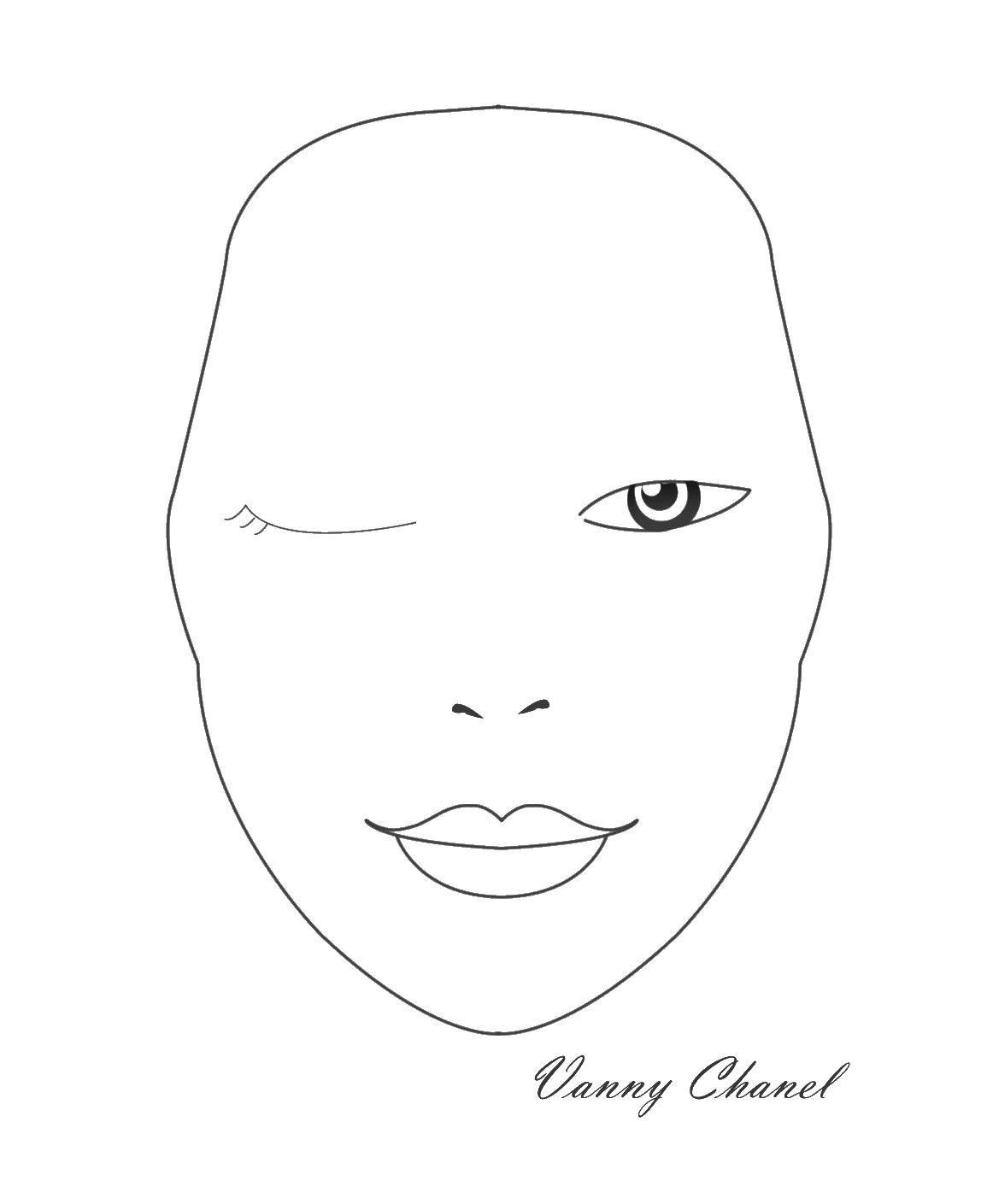 картинки для макияжа для распечатки время компания