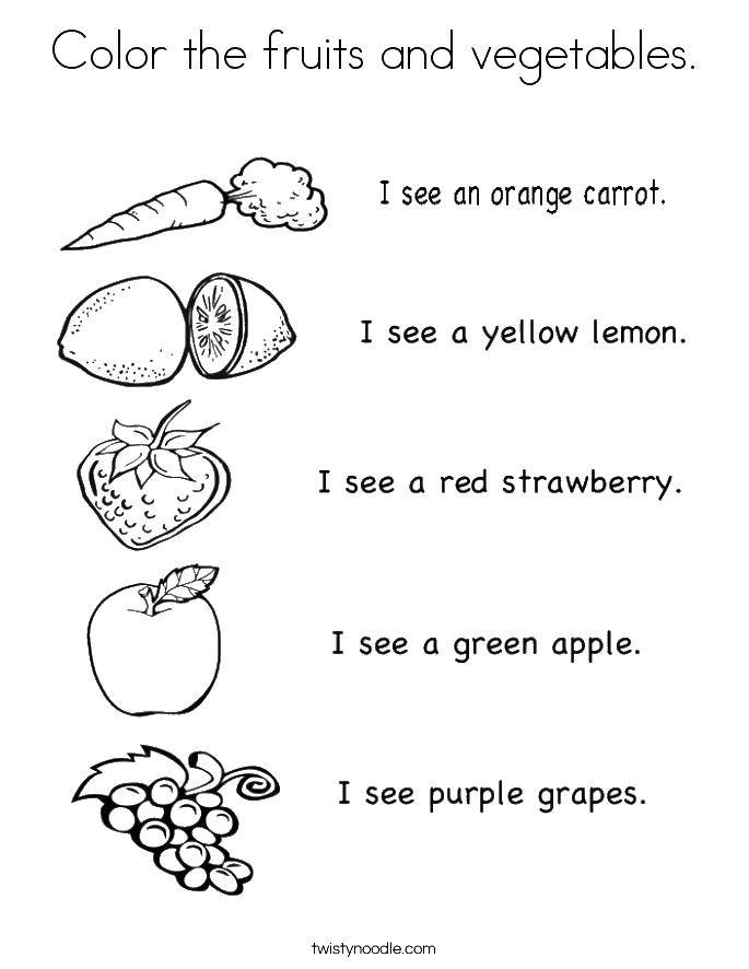 Coloring sheet vegetables Download space, sun, planets.  Print ,Space,