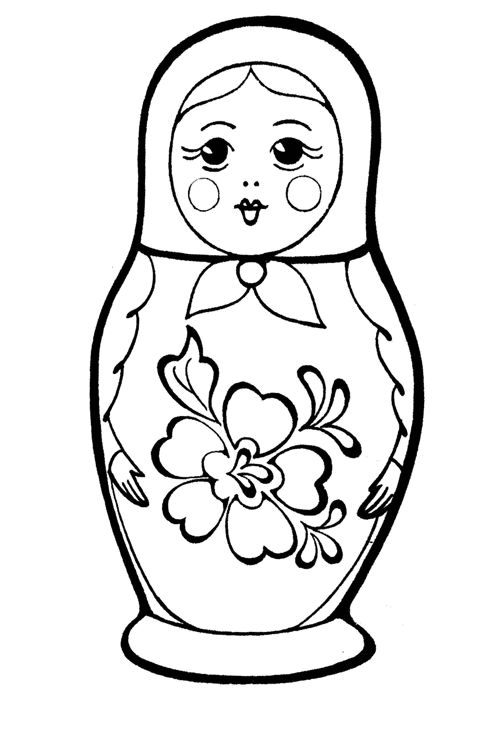Coloring Russian nesting doll Download Matryoshka,.  Print