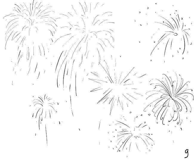 Coloring pages coloring pages fireworks Скачать .  Распечатать