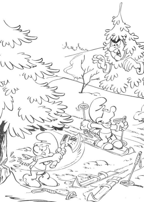 Coloring sheet The Smurfs Download Dinosaurs.  Print ,dinosaur,
