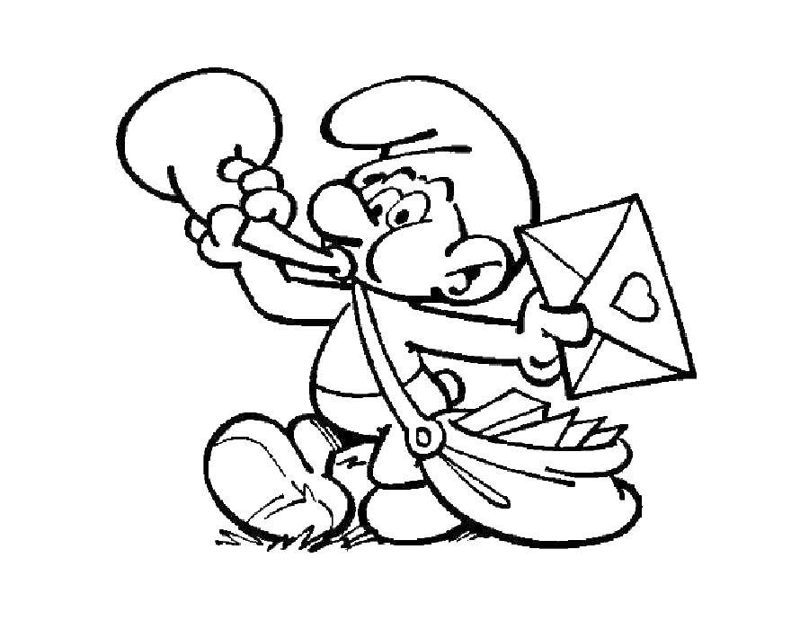 Papa Smurf coloring page | Free Printable Coloring Pages | 700x900