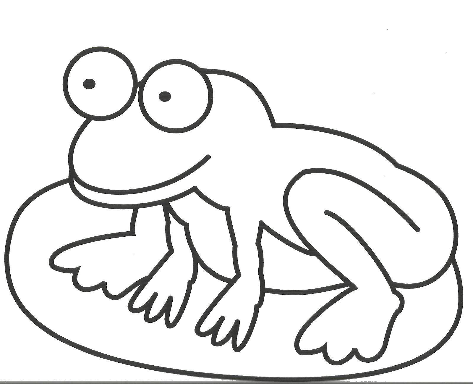 Coloring Frog. Category amphibians. Tags:  frog, stone.
