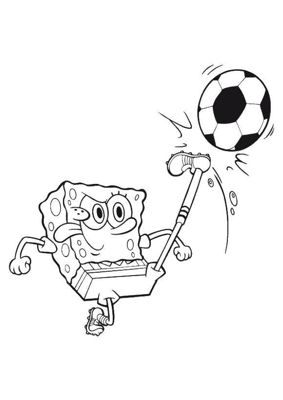 Coloring sheet Spongebob Download Van Gogh.  Print