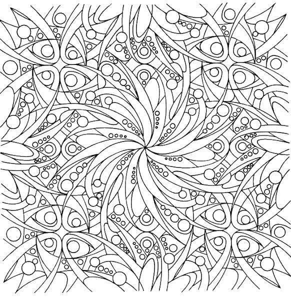 Coloring sheet Patterns with flowers Download .  Print