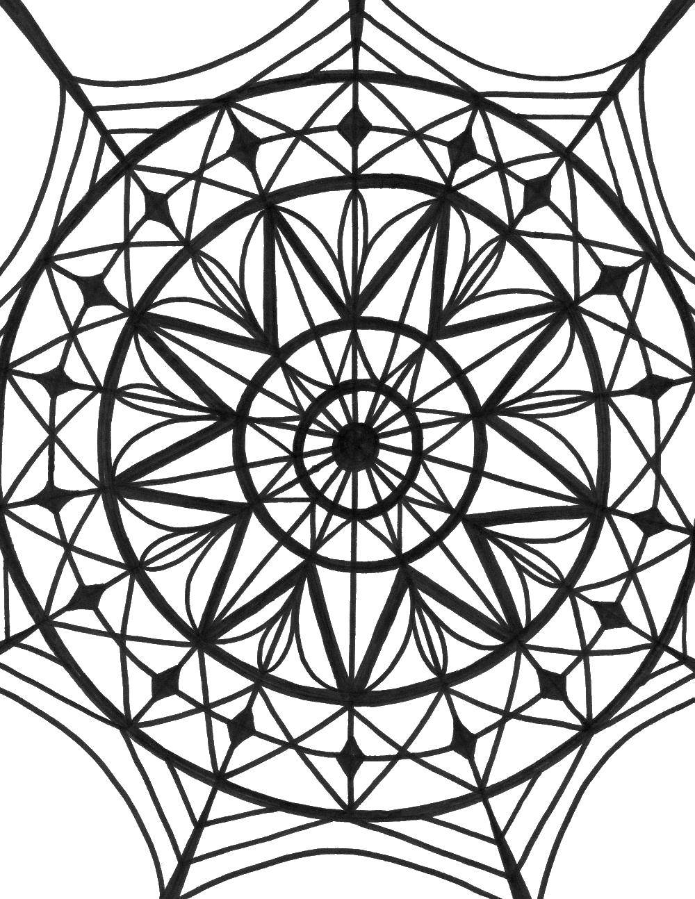 Geometric Coloring Pages, Mandala Coloring Pages, Doodle ... | 1294x1000