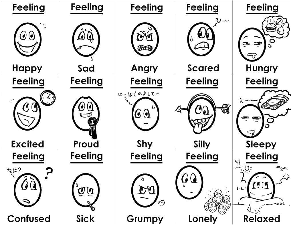 Coloring sheet Emotions Download .  Print
