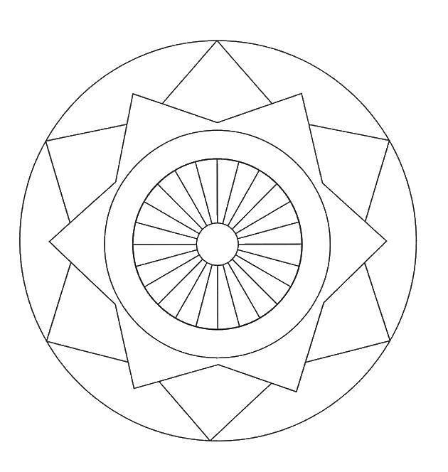 Coloring sheet Kaleidoscope Download .  Print