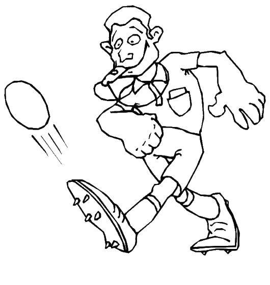 Coloring sheet Football Download Halloween, witch.  Print ,Halloween,