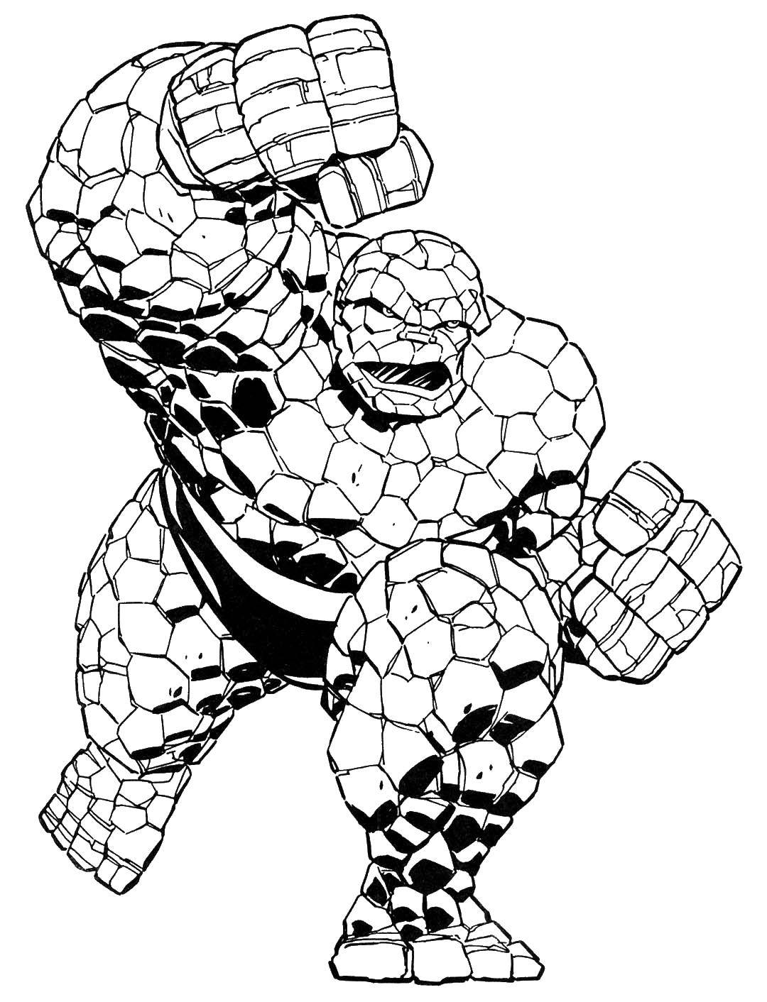 Раскраски герои, Раскраска Сильный бэтмен супергерои.