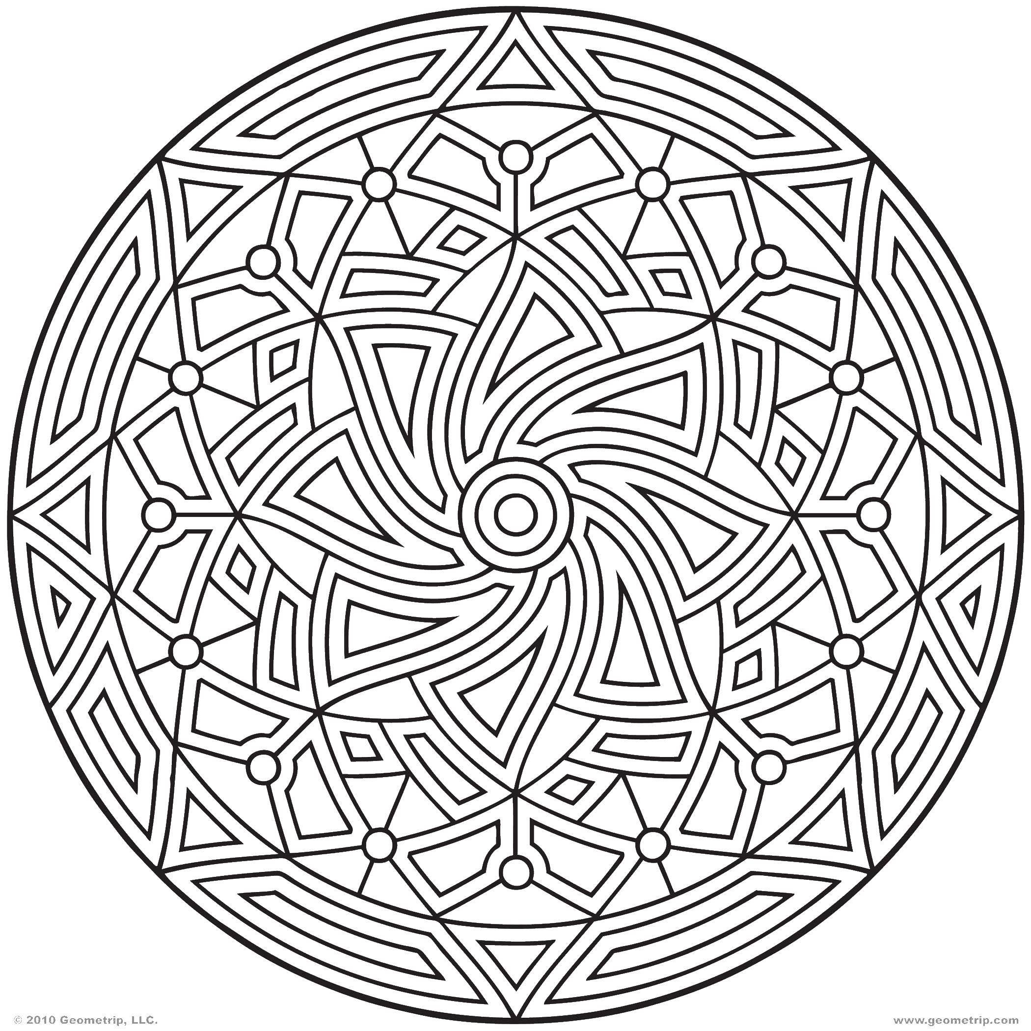 Раскраски Узоры, Раскраска Геометрические узоры на кружке ...