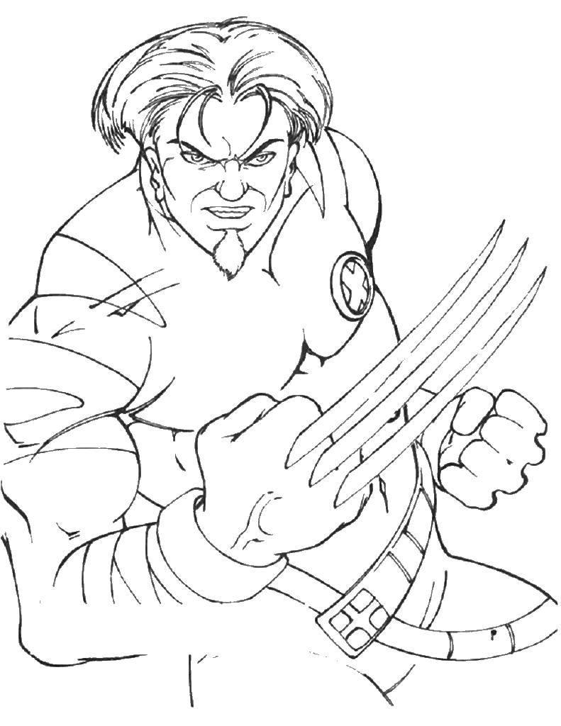 Coloring sheet X-men Download .  Print