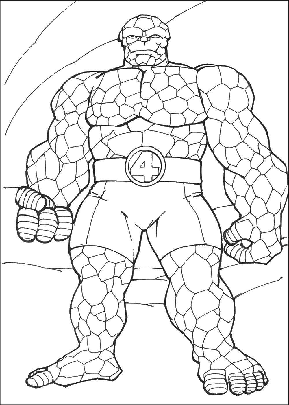 Coloring Fantastic four Download ,superheroes, cartoons, fantastic four,.  Print