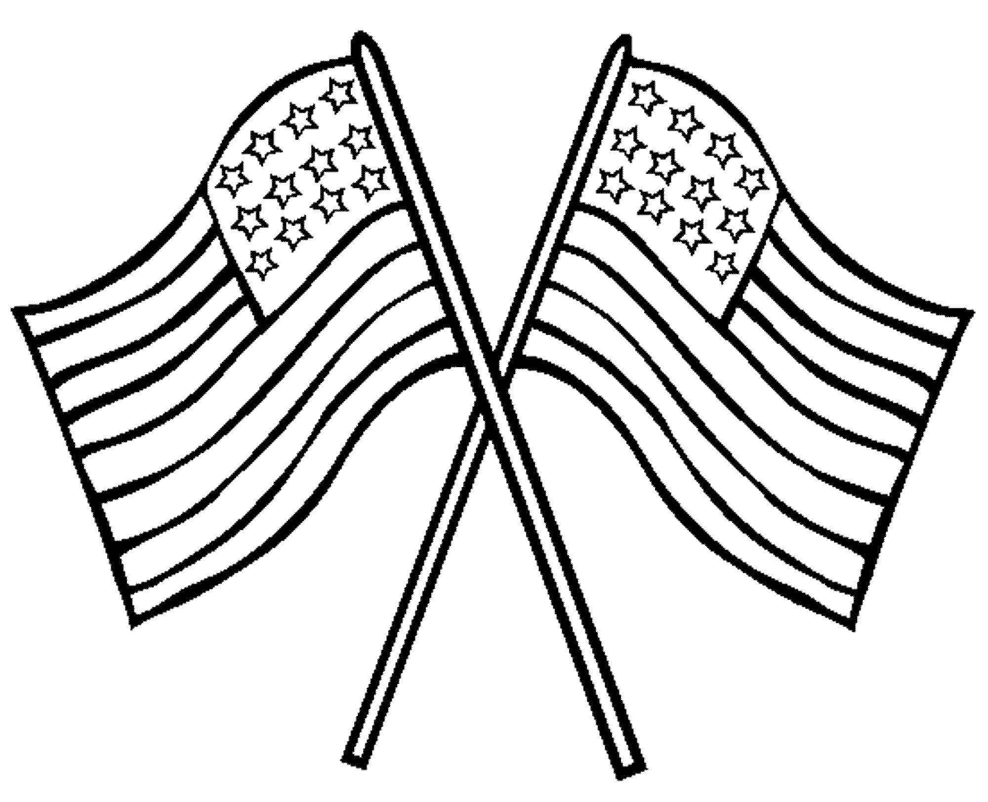 Картинка флаг для раскрашивания