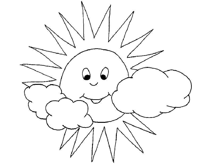 Coloring sheet The sun Download .  Print