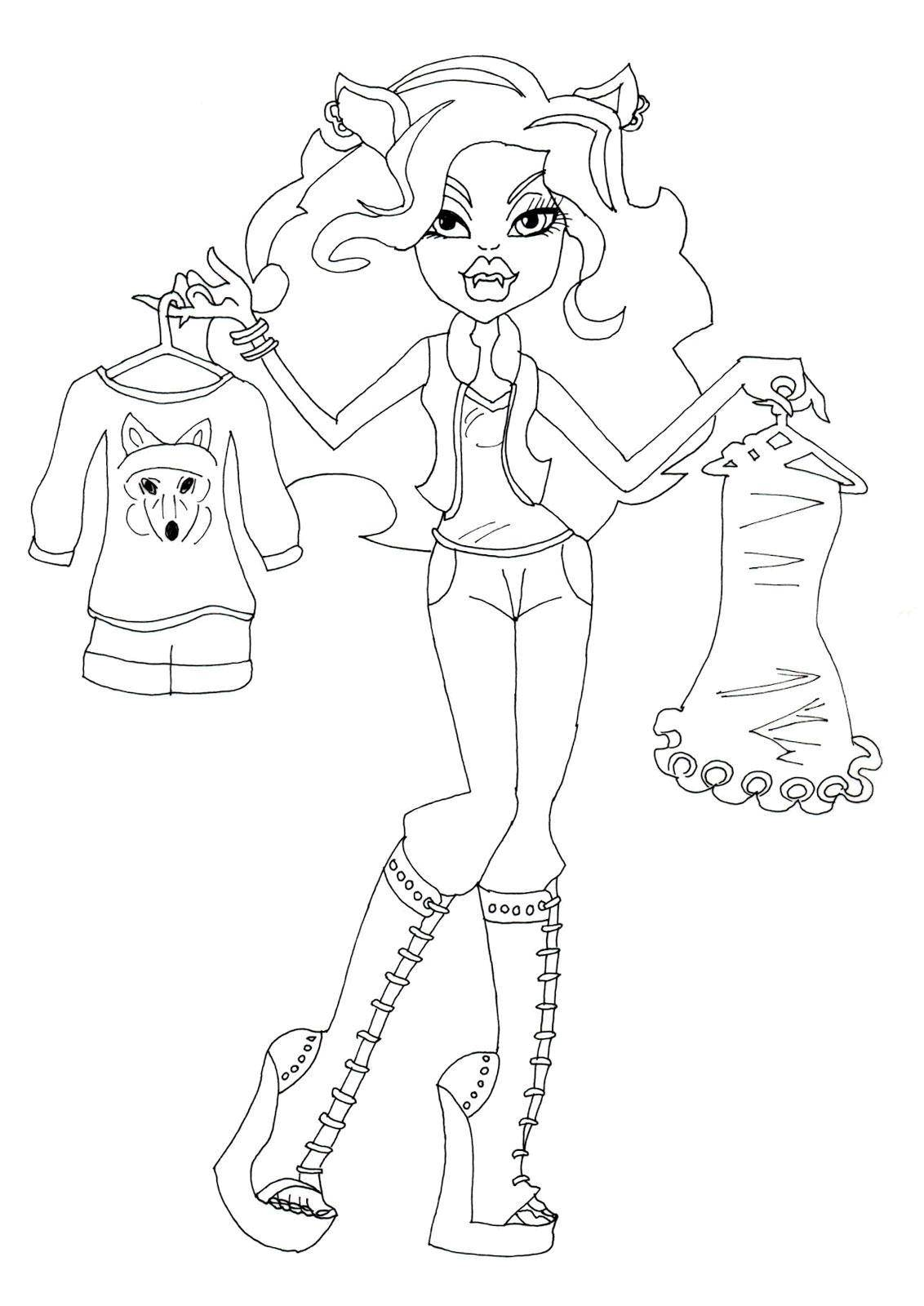Coloring The choice of attire. Category school of monsters. Tags:  Monster High.