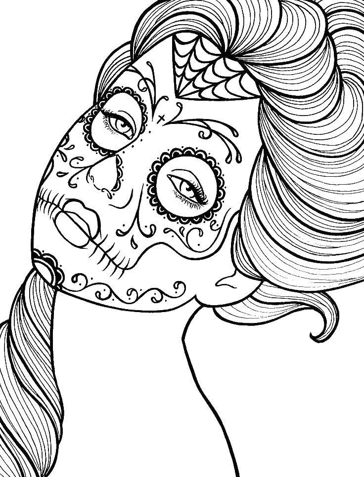 Coloring sheet skull Download Caesar, shields, spears.  Print ,coloring,