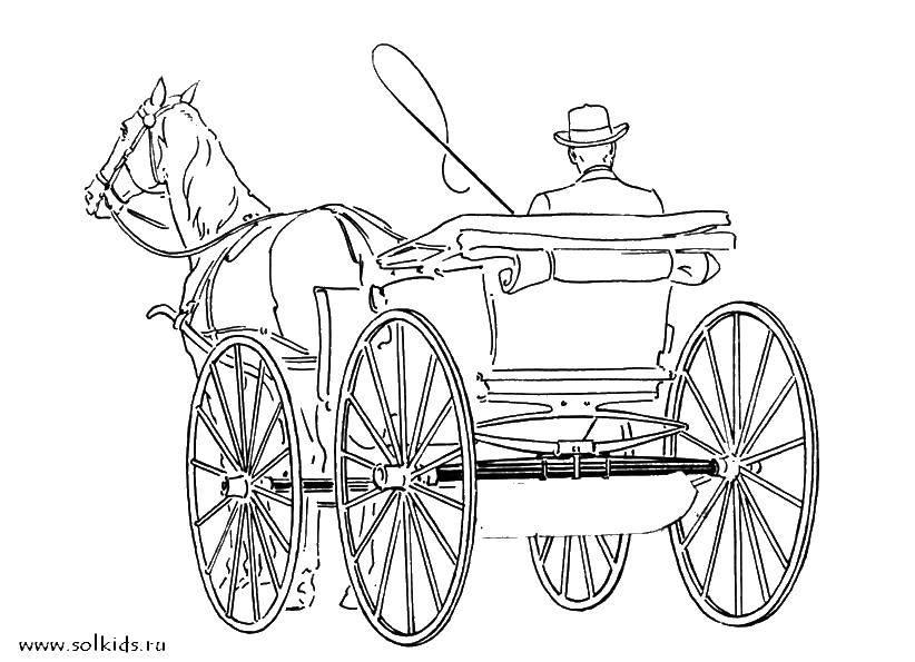 она раскраска карета с лошадью связать шарф хомут