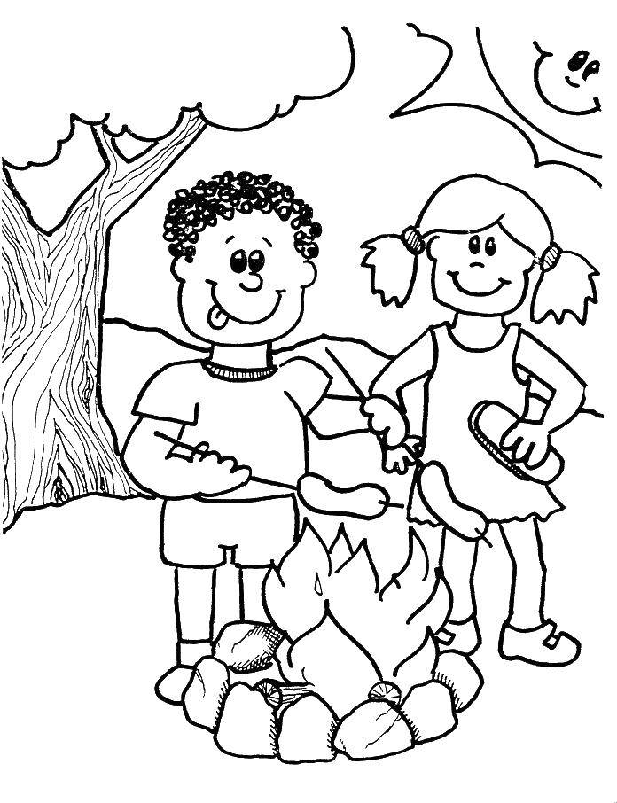 Coloring sheet Fire Download .  Print
