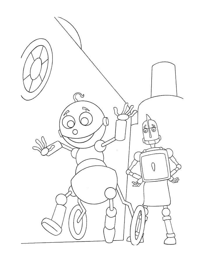 Coloring sheet robots Download .  Print