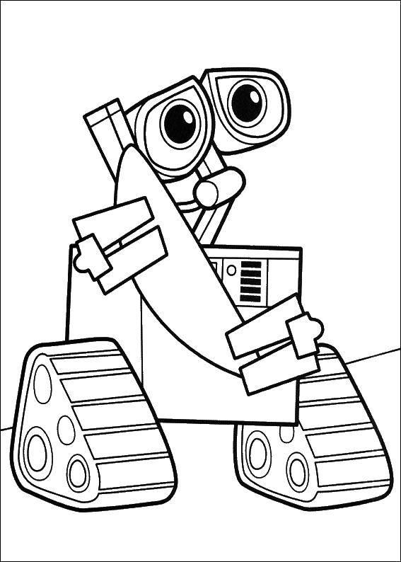 Coloring pages robots Скачать .  Распечатать