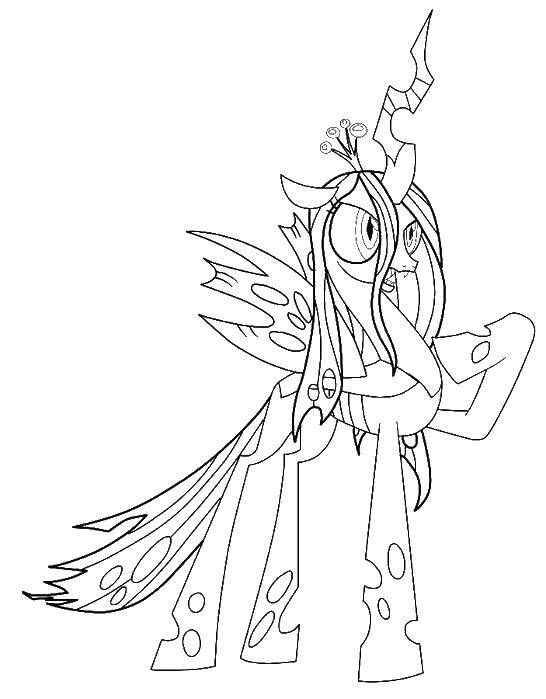 Coloring sheet Pony Download ugly duckling, Swan.  Print ,Fairy tales,