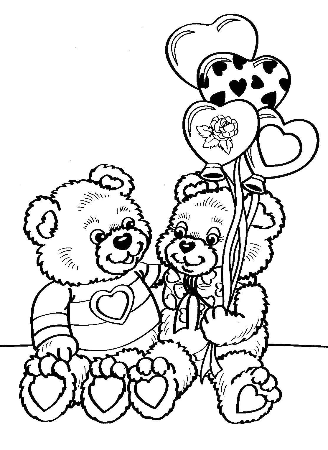 Free Teddy Bear Coloring Pages Teddy Bears Coloring Pages Teddy ... | 1527x1113