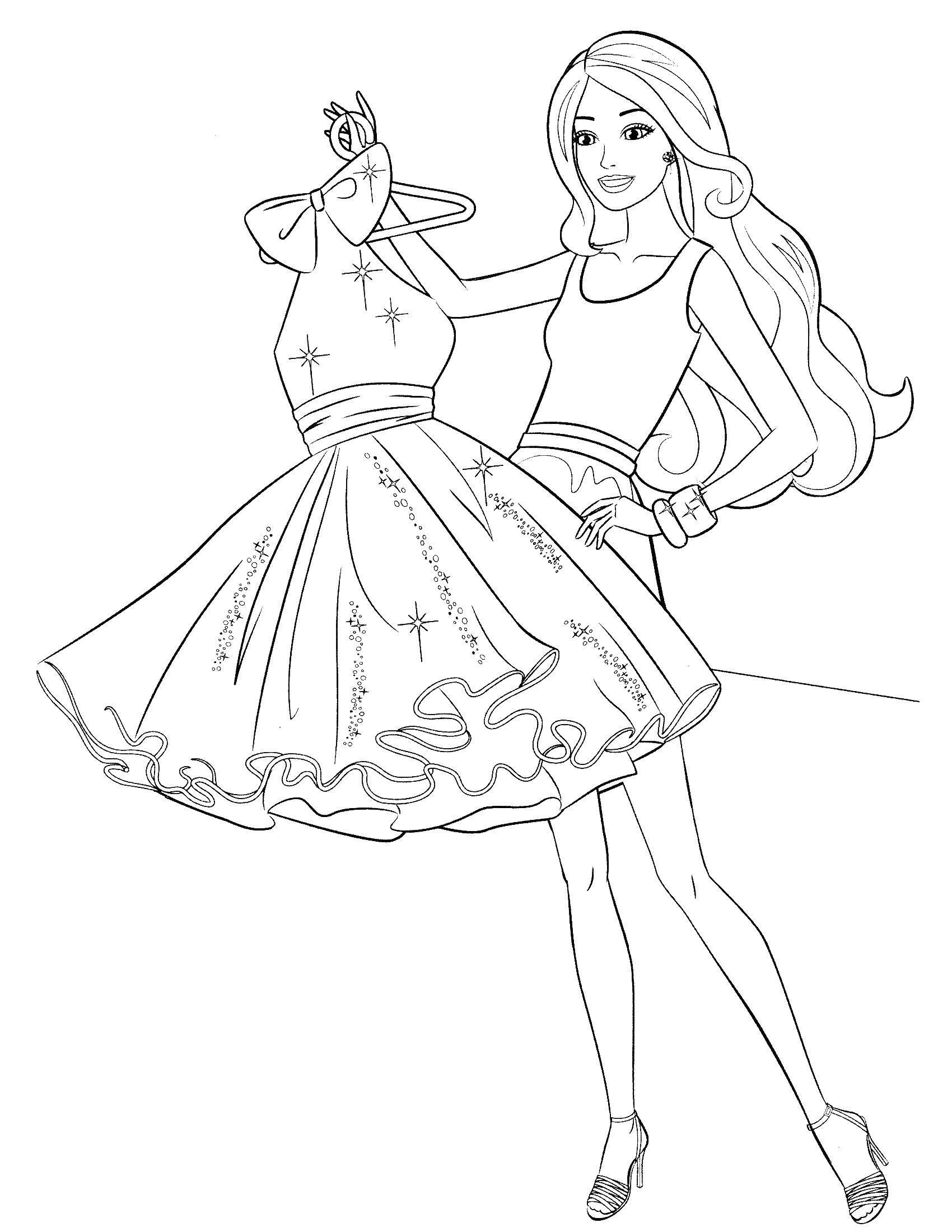 Раскраски Барби, Раскраска Барби и подружки барби.