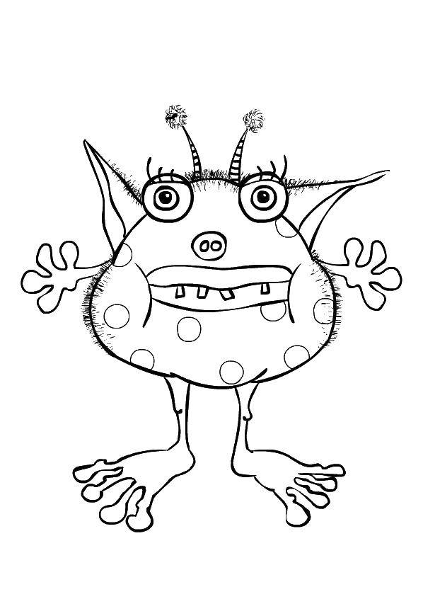 Coloring Monster. Category Monsters. Tags:  crank, monster, monster.