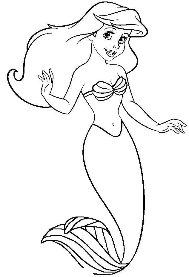 Coloring sheet the little mermaid Ariel Download .  Print