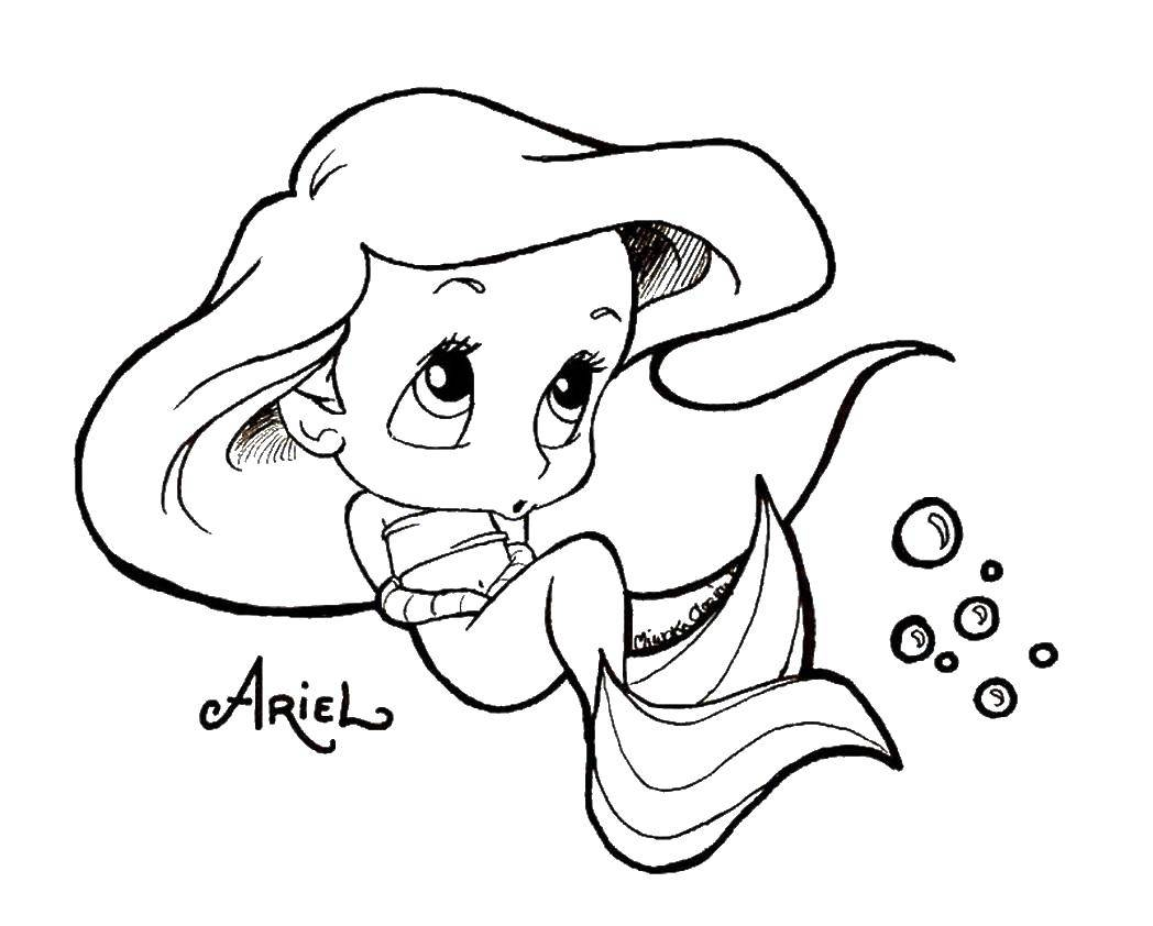 Online Coloring Pages Coloring Mermaid Ariel Coloring