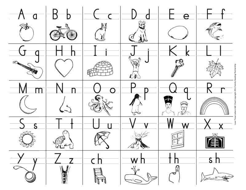 алфавит русский раскраски в картинках на английском тёплый